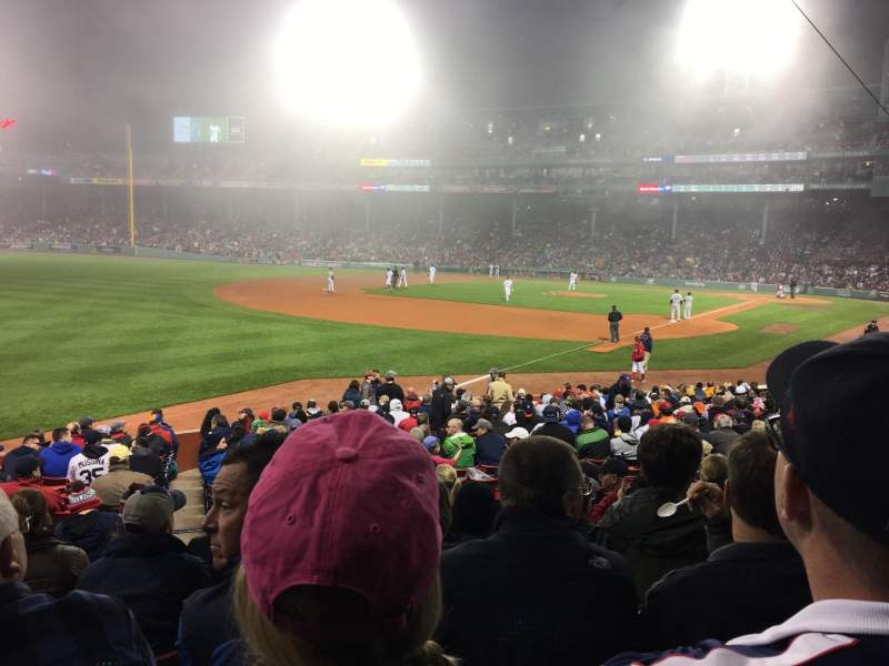 Seating view for Fenway Park Section Loge Box 162 Row KK Seat 5