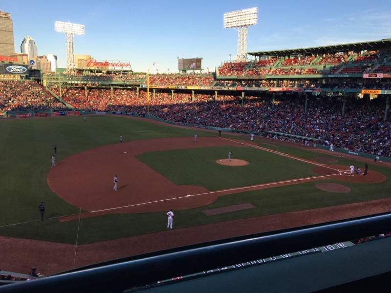 Seating view for Fenway Park Section Suite L12 Row 1 Seat 5