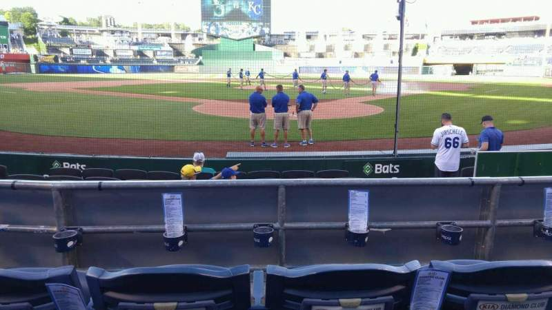 Seating view for Kauffman Stadium Section 127 Row c Seat 5