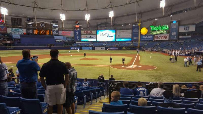 Seating view for Tropicana Field Section 105 Row 18 Seat 1
