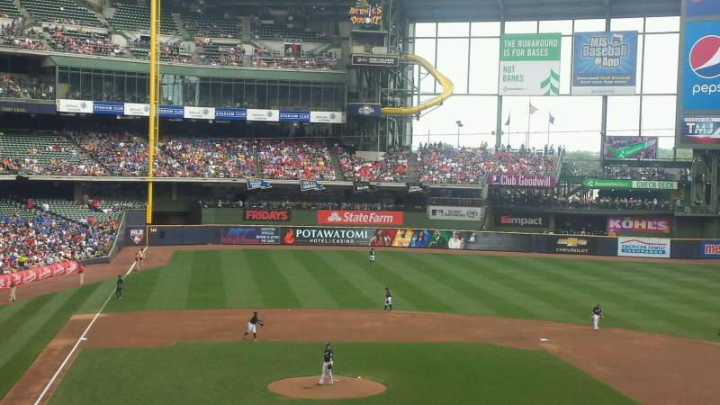 Seating view for Miller Park Section 215 Row 8 Seat 17
