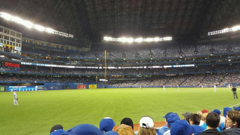 Seating view for Rogers Centre Section 130D Row 6 Seat 1