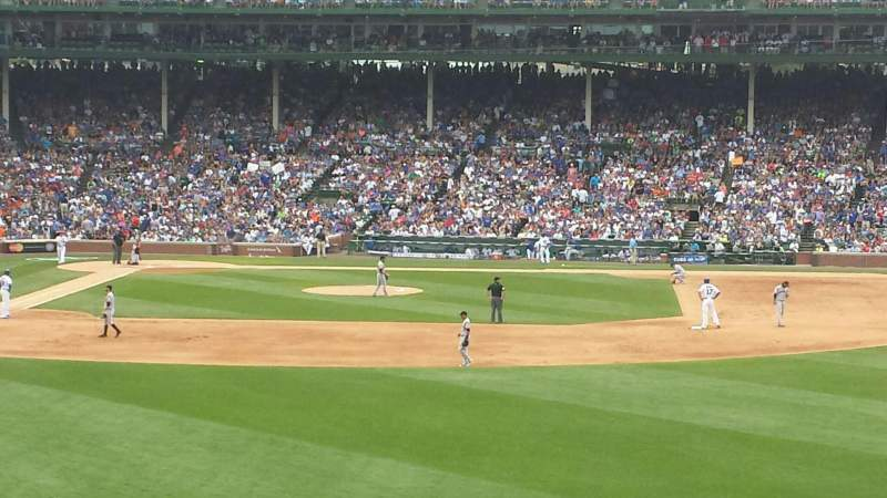 Seating view for Wrigley Field Section Bleachers Row 4