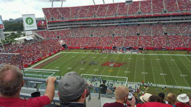 Raymond James Stadium, section: 337, row: F, seat: 5
