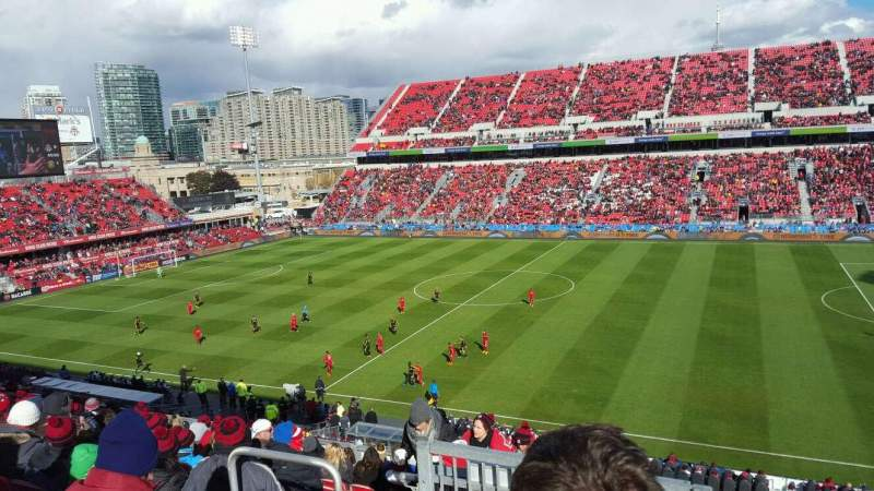 Seating view for BMO Field Section 222 Row 21 Seat 7