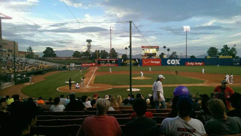 Seating view for Cashman Field Section E20 Row C Seat 3
