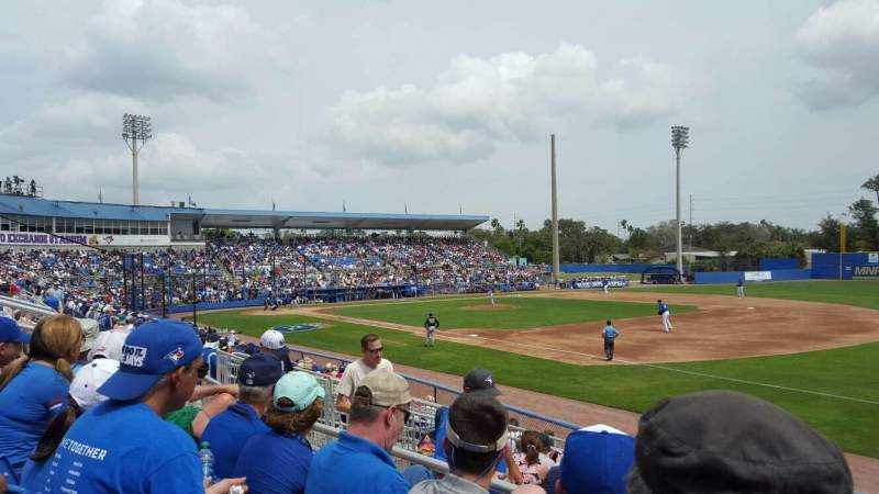 Seating view for Dunedin Stadium Section 200A Row 3 Seat 11