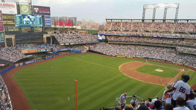 Seating view for Citi Field Section 529 Row 10 Seat 10