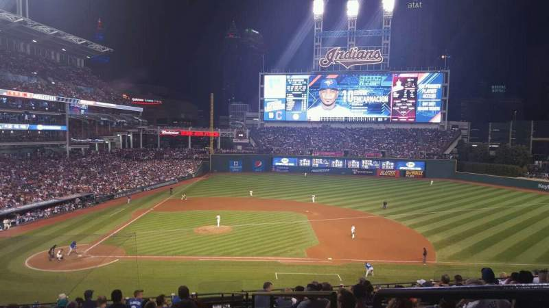 Seating view for Progressive Field Section 346 Row P Seat 8