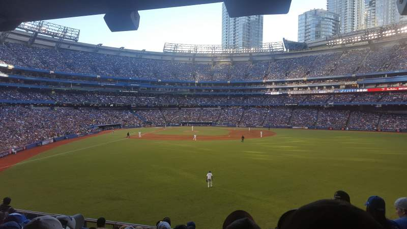 Seating view for Rogers Centre Section 105L Row 9 Seat 101