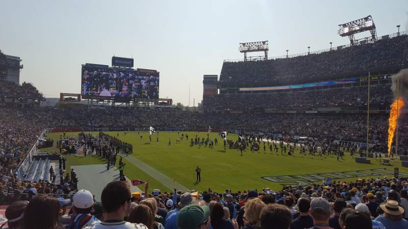 Seating view for Nissan Stadium Section 104 Row AA Seat 9