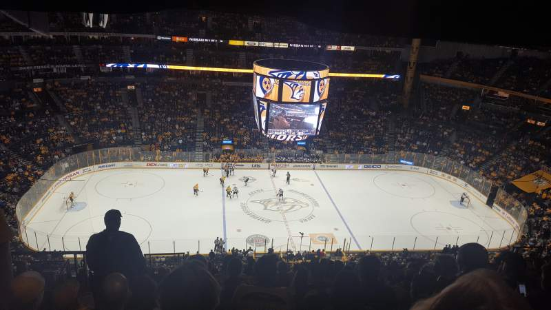 Seating view for Bridgestone Arena Section 309 Row P Seat 20