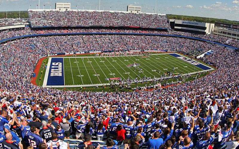 Seating view for New Era Field Section Standing Row Standing Seat Standing