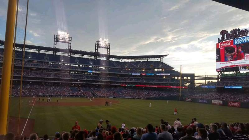 Seating view for Citizens Bank Park Section 106 Row 20 Seat 16