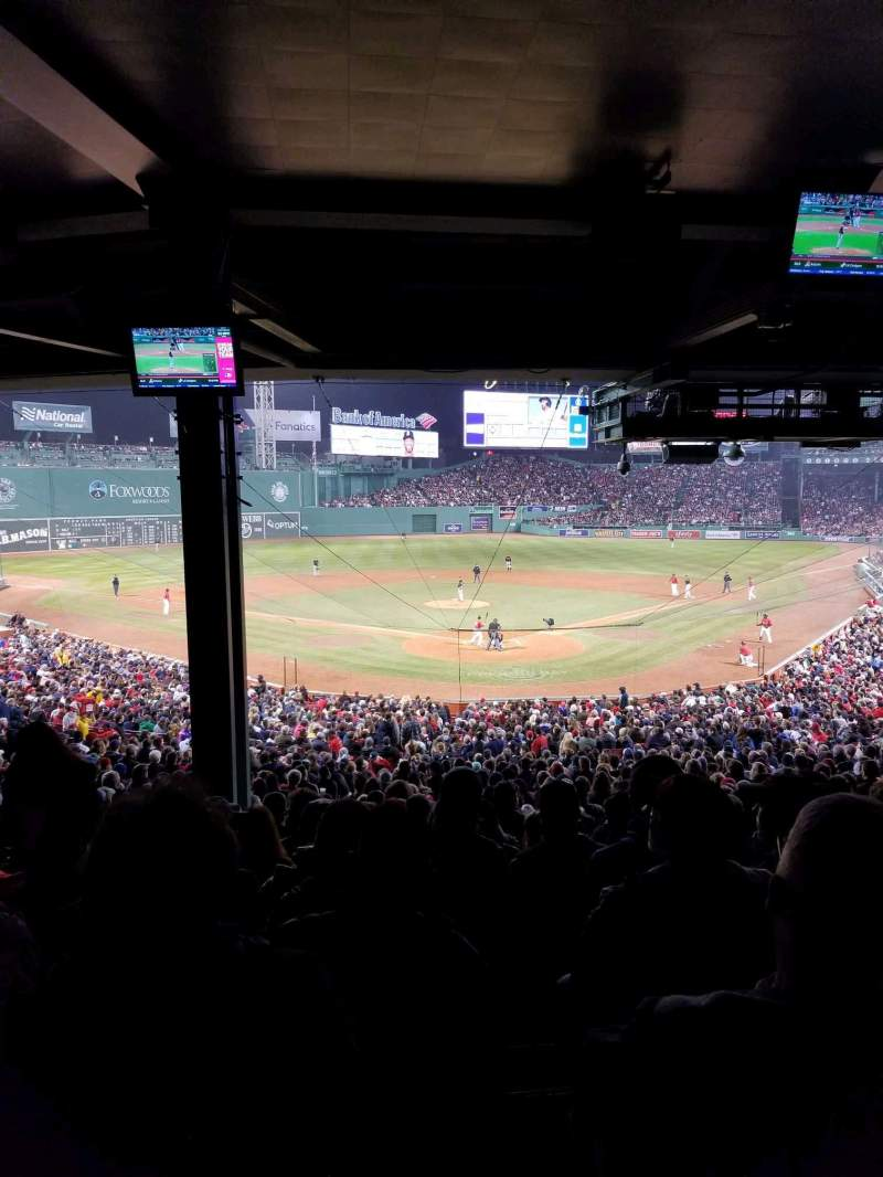 Seating view for Fenway Park Section Grandstand 21 Row 14 Seat 20