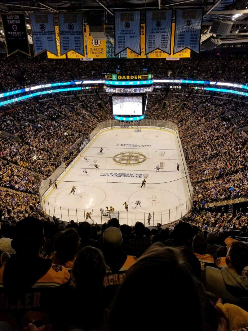Seating view for TD Garden Section BAL 323 Row 15 Seat 20