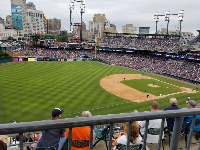 Seating view for Comerica Park Section 339 Row 1 Seat 16
