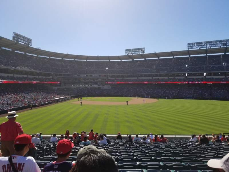Seating view for Angel Stadium Section P238 Row K Seat 1