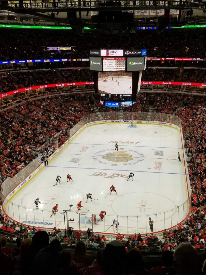 Seating view for United Center Section 325 Row 8 Seat 5