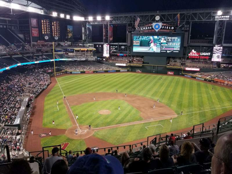 Seating view for Chase Field Section 313 Row 13 Seat 16