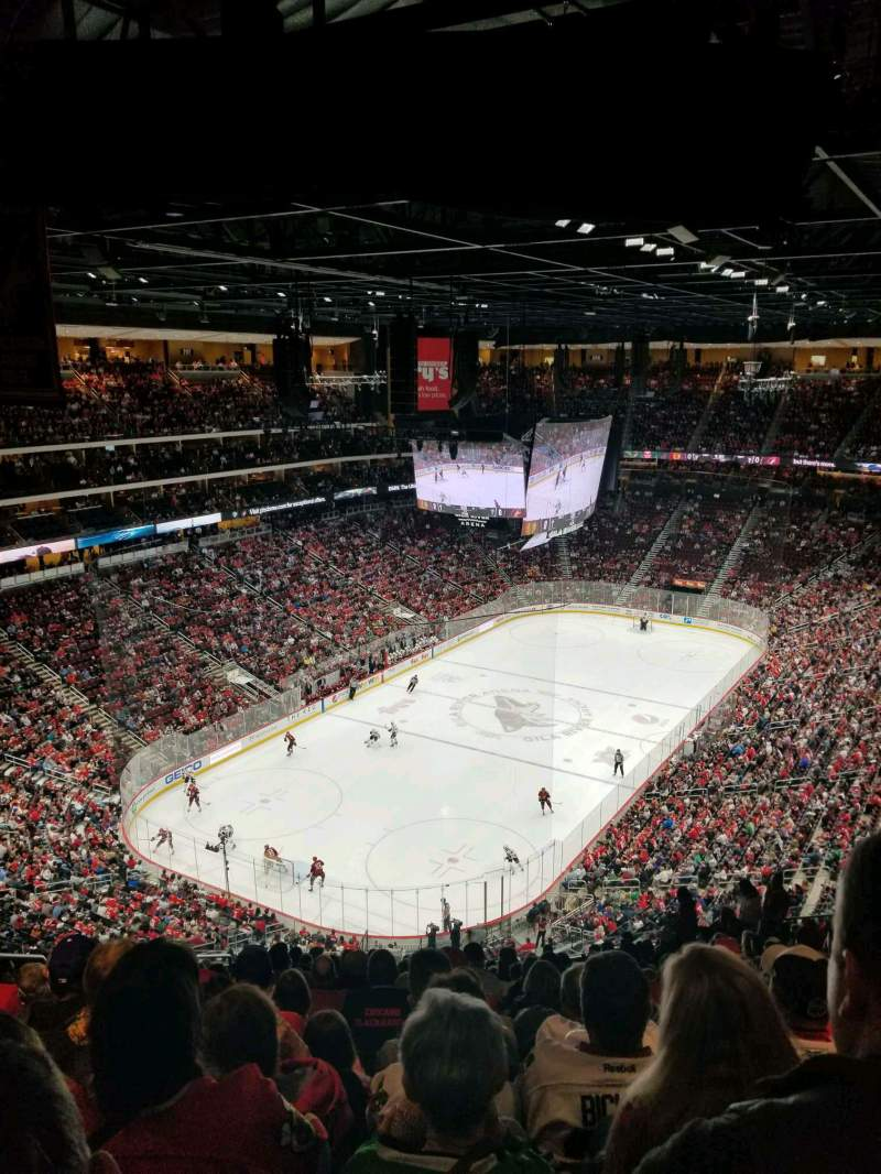 Seating view for Gila River Arena Section 220 Row Q Seat 16