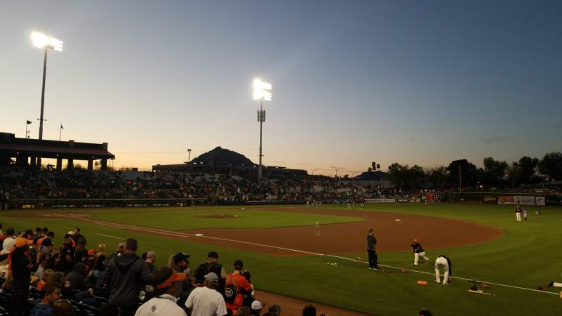 Seating view for Scottsdale Stadium Section 126 Row 12 Seat 4