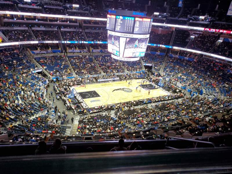 Seating view for Amway Center Section 228 Row 6 Seat 4