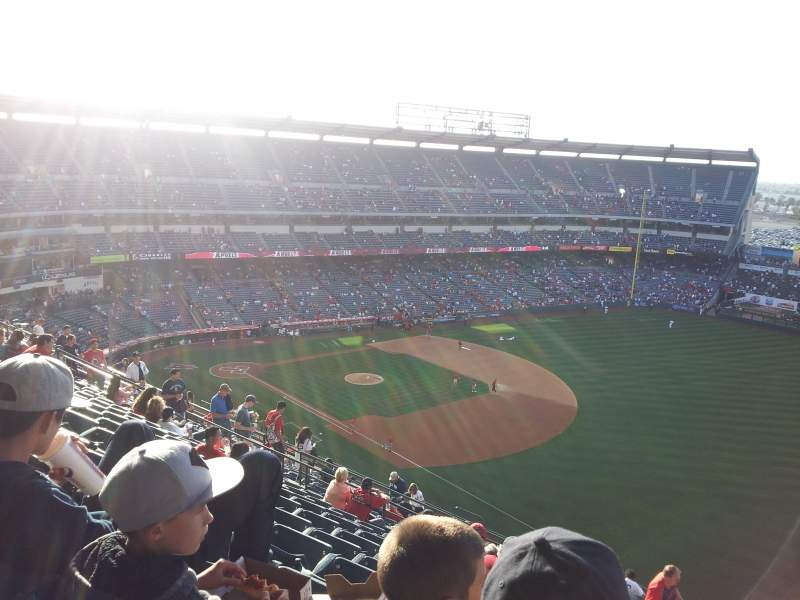 Seating view for Angel Stadium Section V532 Row K Seat 25