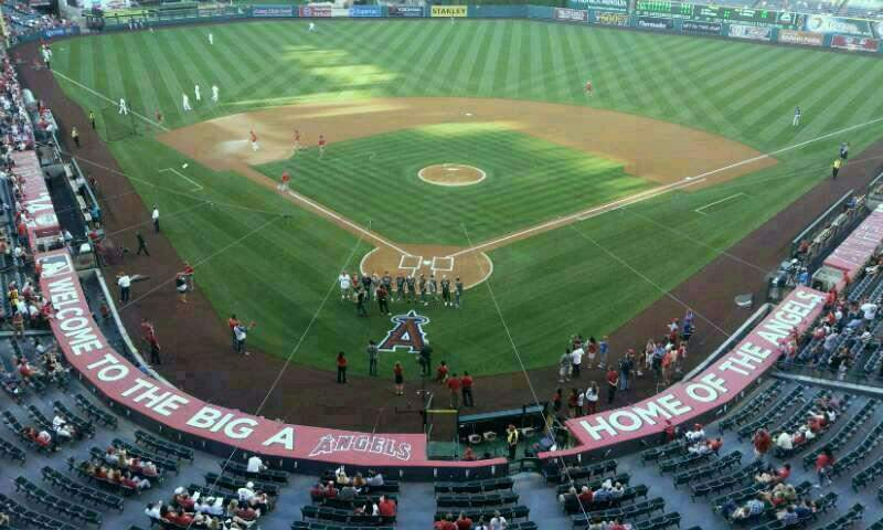 Seating view for Angel Stadium Section 419 Row A Seat 9
