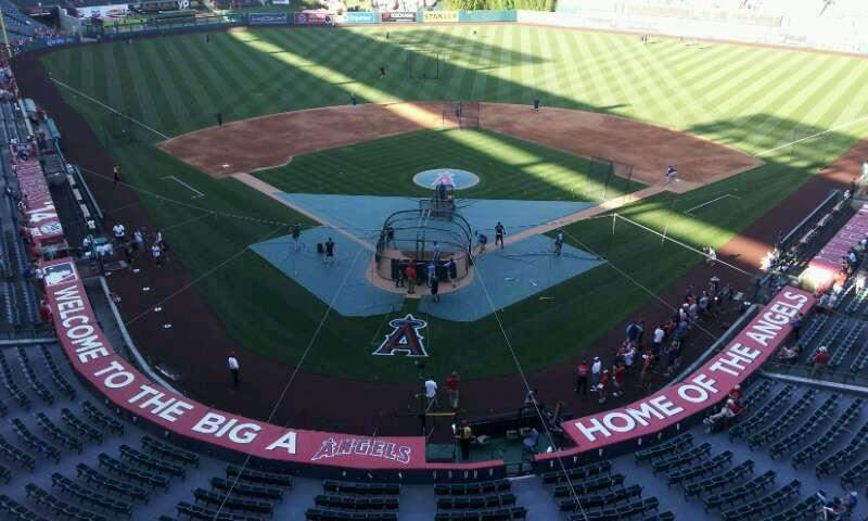 Seating view for Angel Stadium Section V419 Row A Seat 9