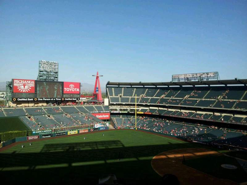 Seating view for Angel Stadium Section V509 Row c Seat 1