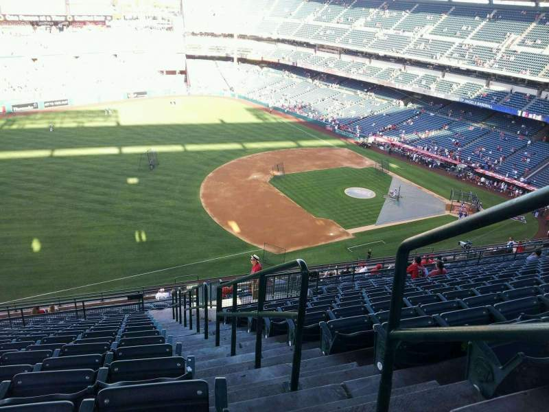 Seating view for Angel Stadium Section V510 Row p Seat 25