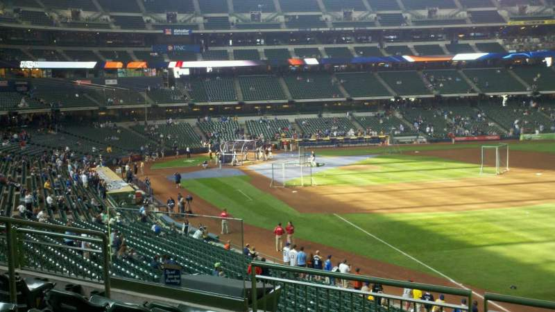 Seating view for American Family Field Section 210 Row 3 Seat 5