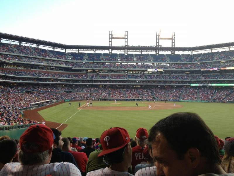 Seating view for Citizens Bank Park Section 106 Row 15 Seat 6