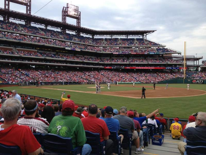 Seating view for Citizens Bank Park Section 112 Row 15 Seat 18