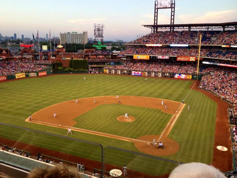 Seating view for Citizens Bank Park Section 323 Row 2 Seat 11