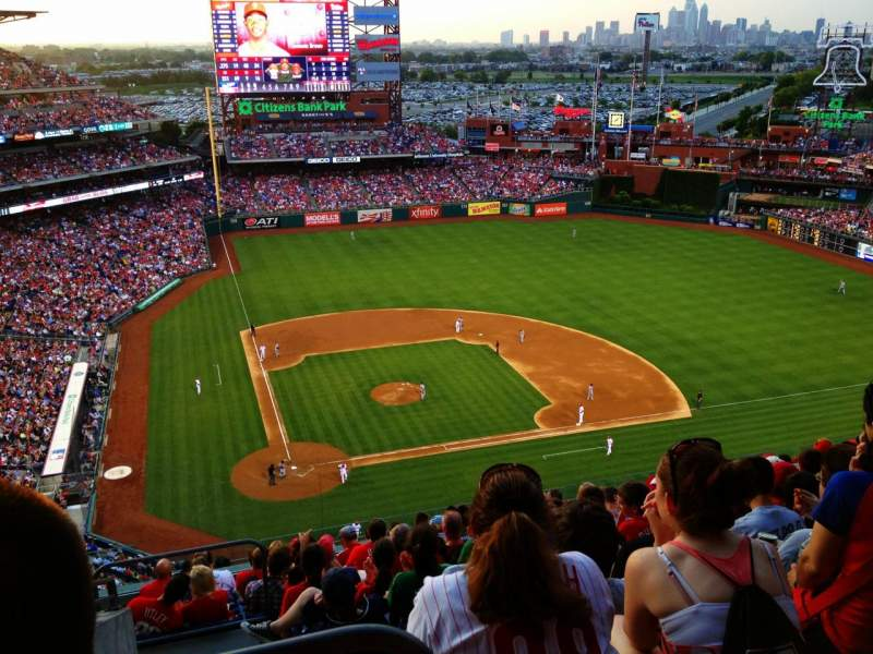 Seating view for Citizens Bank Park Section 417 Row 12 Seat 22
