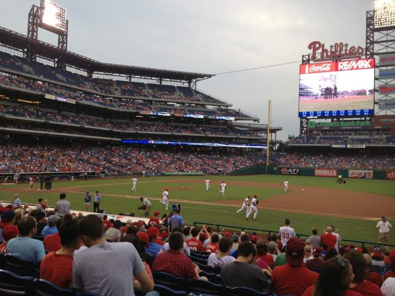 Seating view for Citizens Bank Park Section 115 Row 21 Seat 1