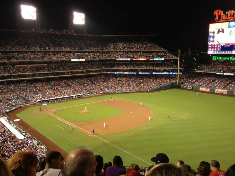 Seating view for Citizens Bank Park Section 309 Row 10 Seat 12