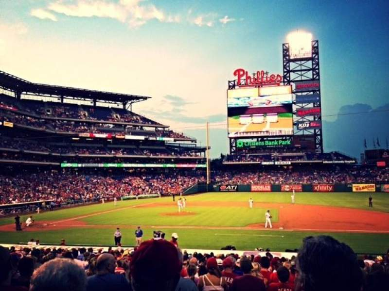 Seating view for Citizens Bank Park Section 116 Row 23 Seat 6