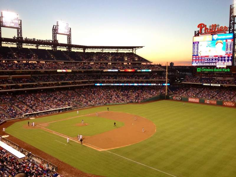 Seating view for Citizens Bank Park Section 310 Row 4 Seat 10