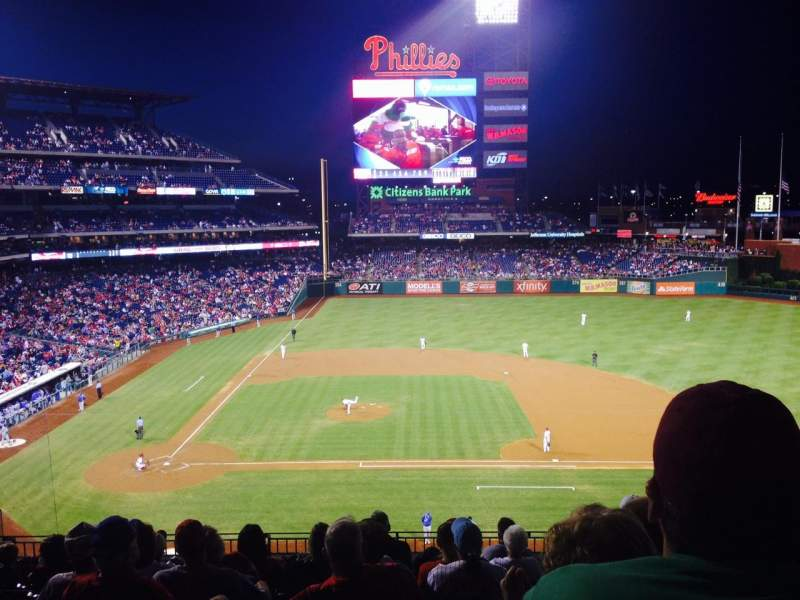 Seating view for Citizens Bank Park Section 216 Row 9 Seat 12