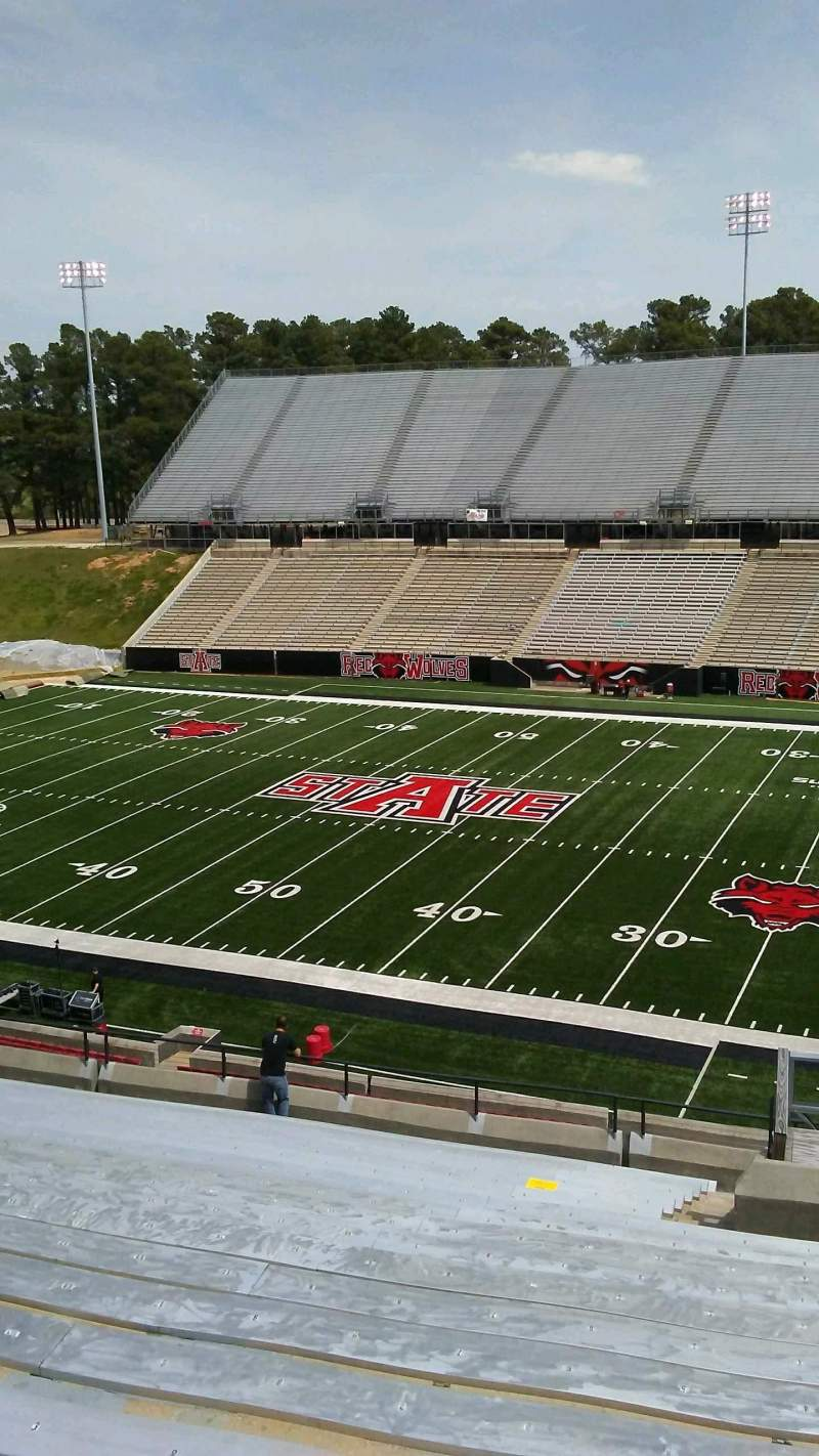Seating view for Centennial Bank Stadium Section BB Row 20 Seat 4