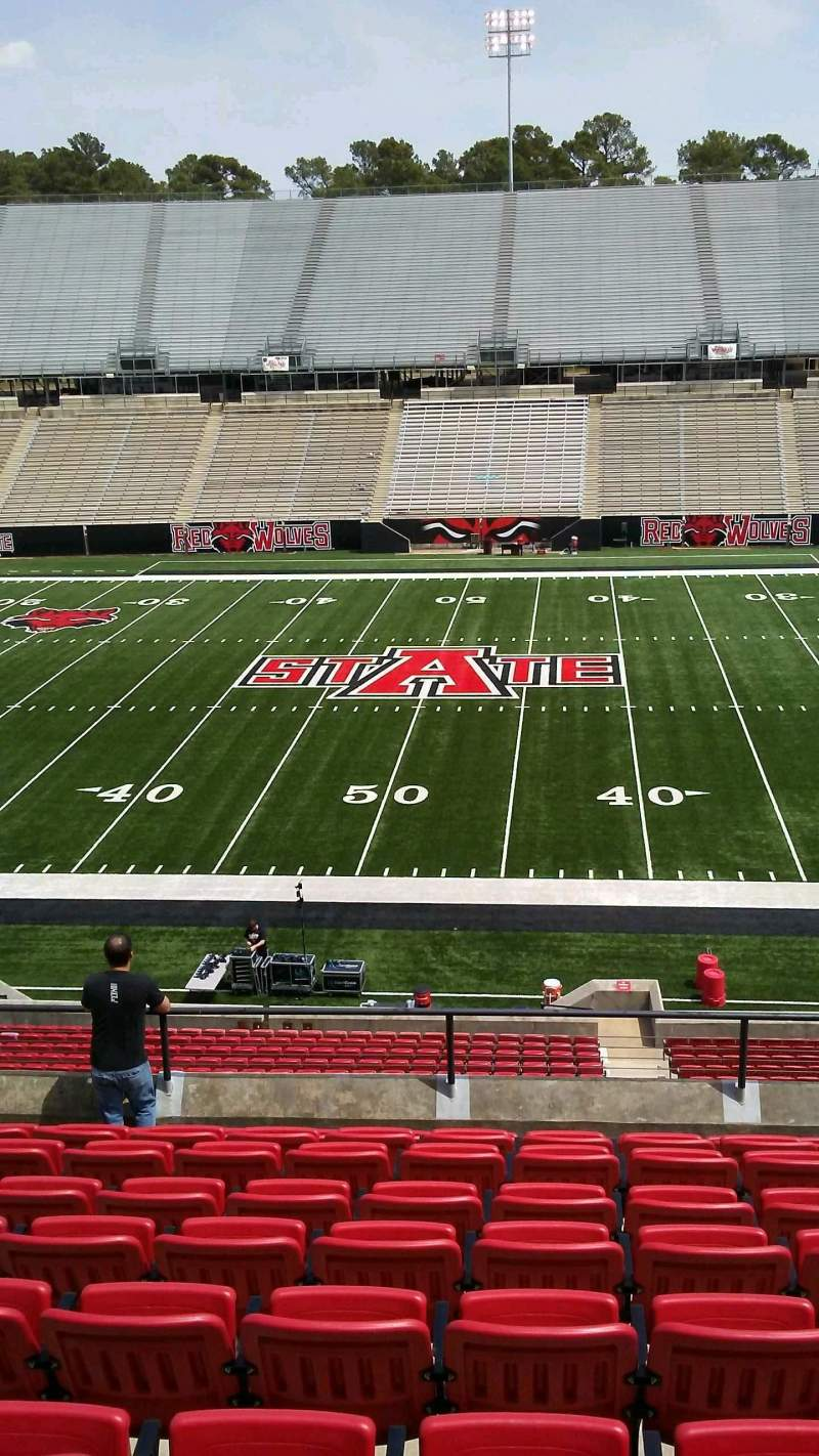 Seating view for Centennial Bank Stadium Section CC Row 10 Seat 21