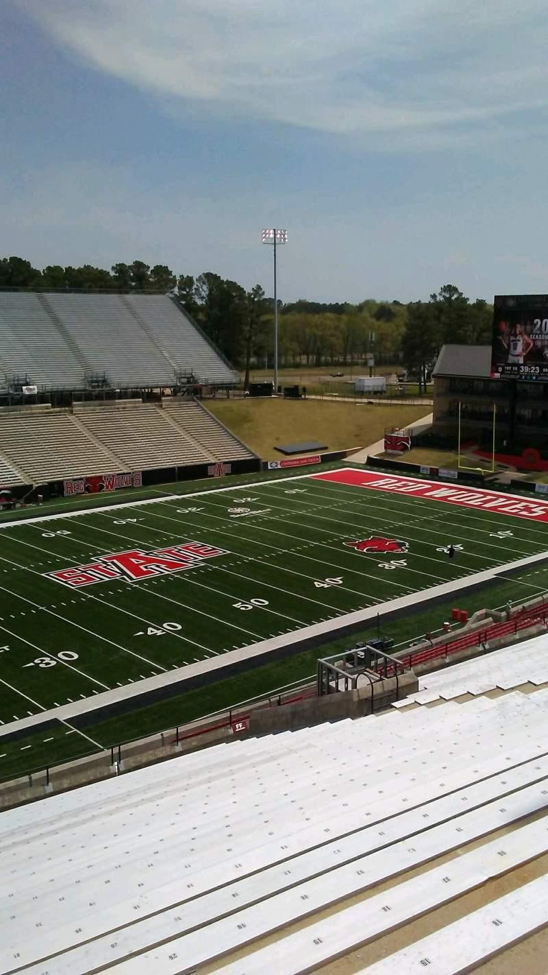 Centennial Bank Stadium, section: FF, row: 28, seat: 23