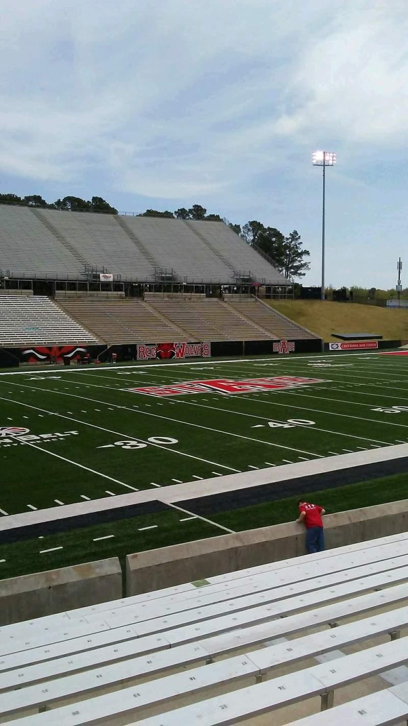 Centennial Bank Stadium, section: G, row: 13, seat: 23