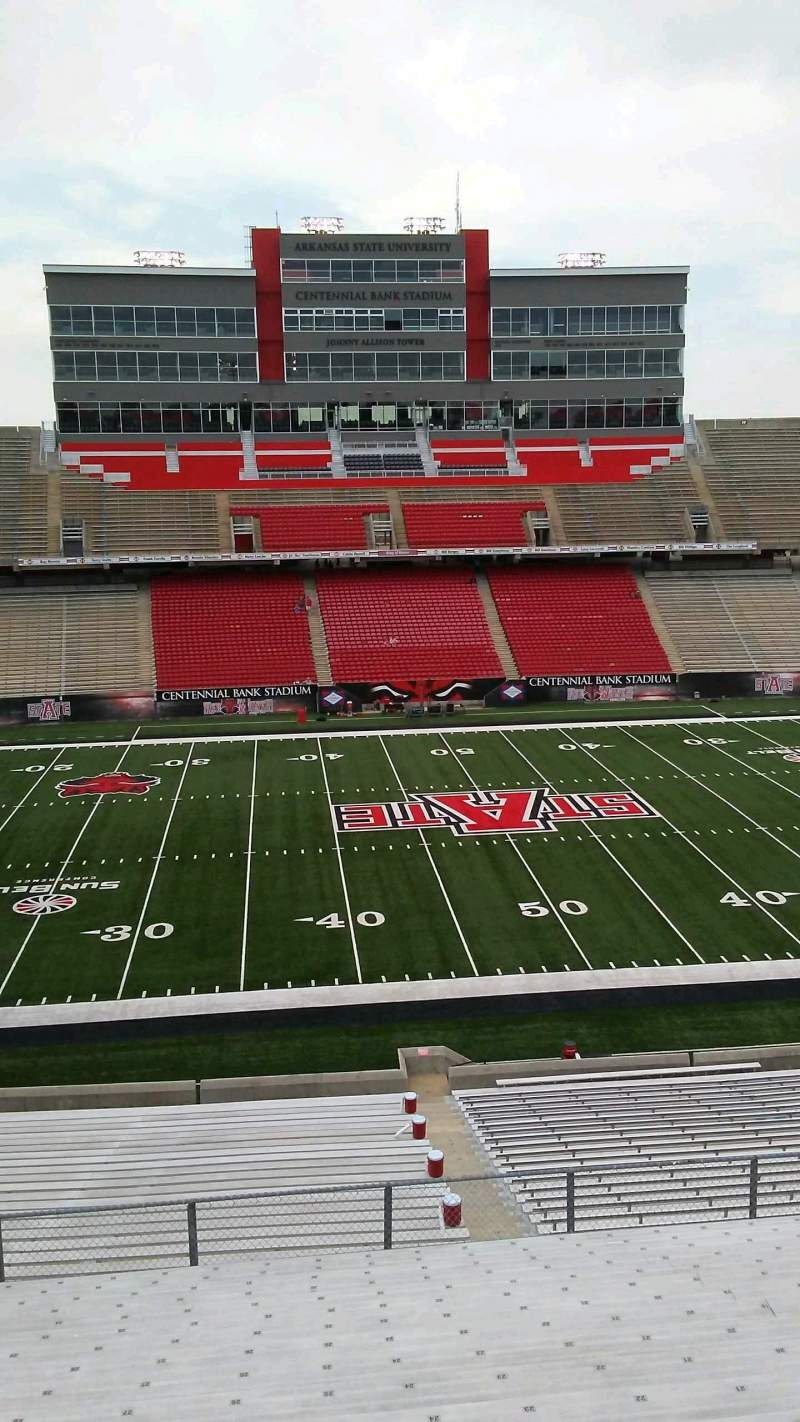 Seating view for Centennial Bank Stadium Section TT Row 19 Seat 26