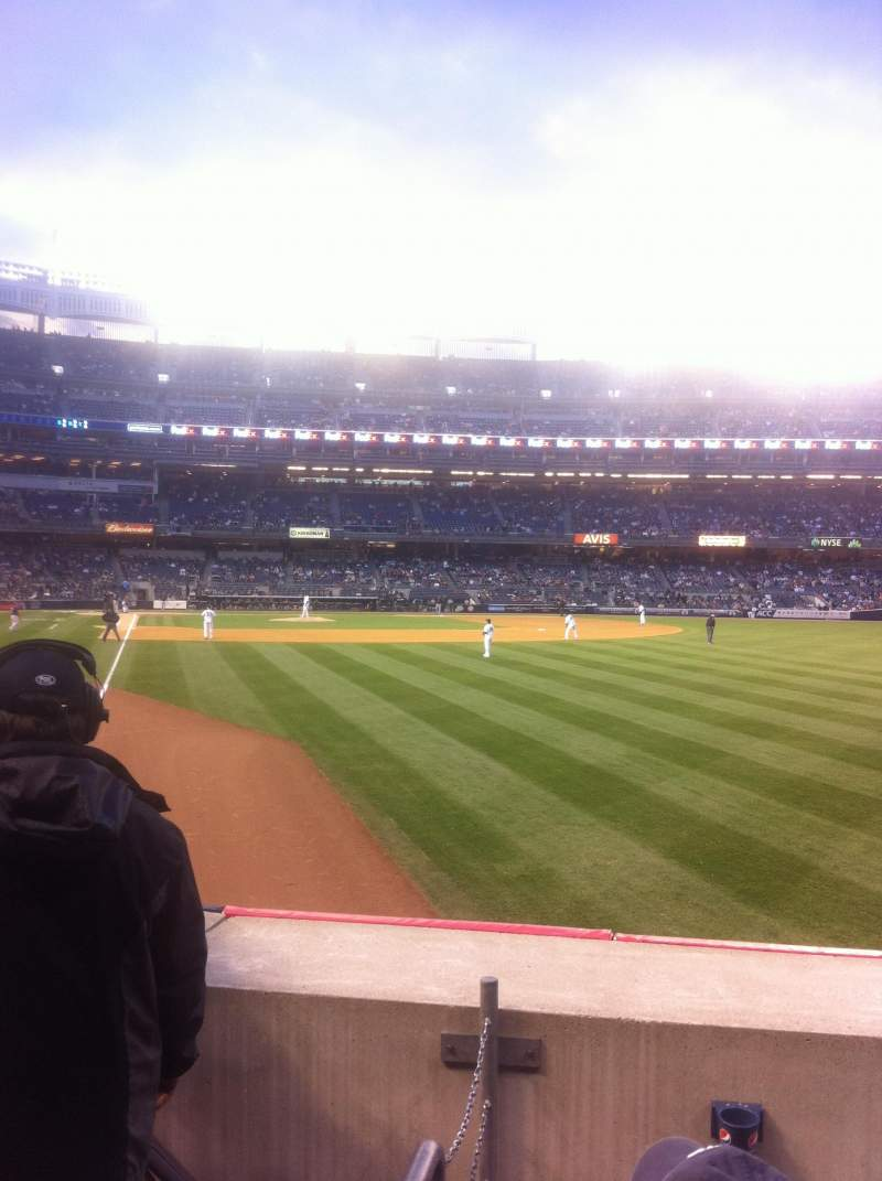 Seating view for Yankee Stadium Section 107 Row 13 Seat 10