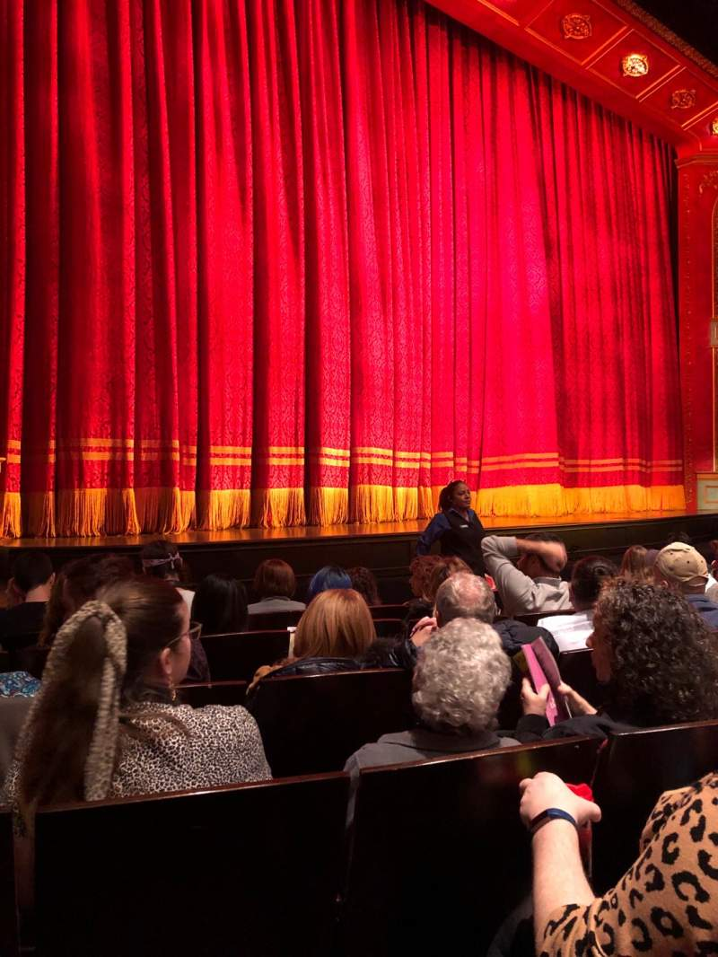 Seating view for Marquis Theatre Section Orchestra L Row F Seat 11