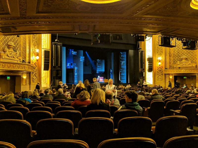 Seating view for Paramount Theatre (Seattle) Section MF4 Row AA Seat 5